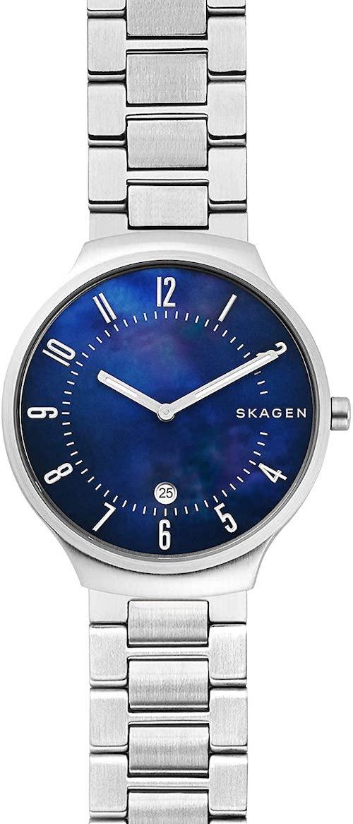 Montre bracelet pour femme en acier Skagen SKW6519 avec cadran bleu