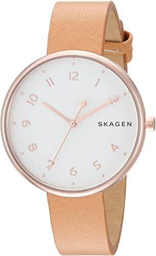 Montre Skagen pour femme avec bracelet en cuir beige SKW2624