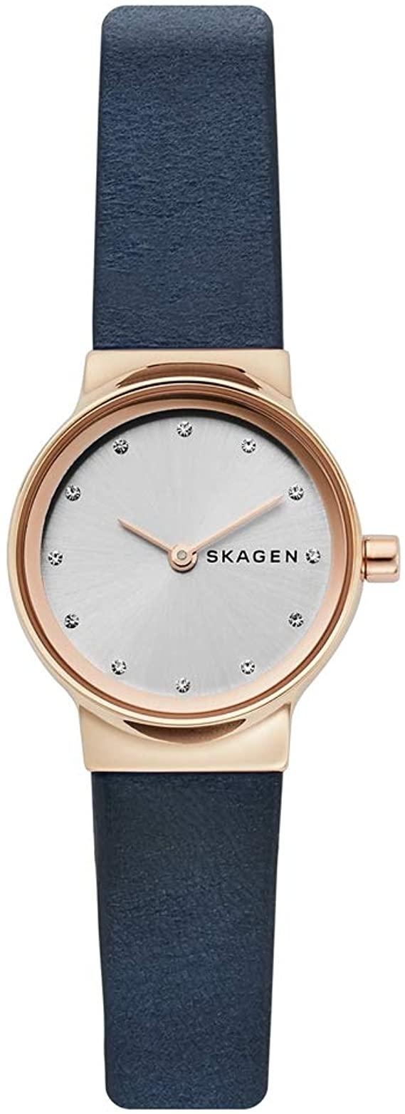 Montre Skagen pour femme avec bracelet en cuir bleu SKW2744